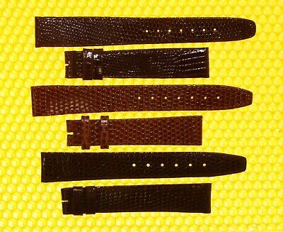 [Lot of 3] Vintage GUCCI 16mm Real-Lizard Watch Strap Bands SWISS MADE