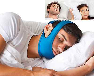 Snore Stop Belt Anti Snoring Cpap Chin Strap Sleep Apnea Jaw Solution TMJ BLUE Chin Straps