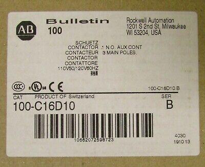 Allen Bradley 100 C16d10 110120vac 3 Pole 16 Amp C16 Contactor