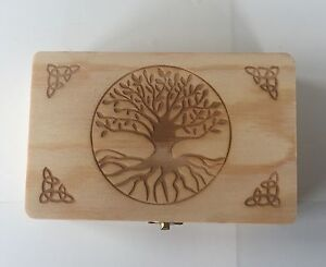 HANDCRAFTED WOODEN TAROT CARD BOX FOR STORING YOUR TAROT CARDS+FREE VELVET POUCH