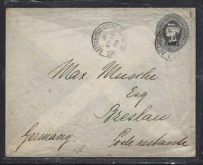 BRITISH LEVANT, TURKEY  (P1708B)  GB QV 1/2P PSE TO GERMANY 1899