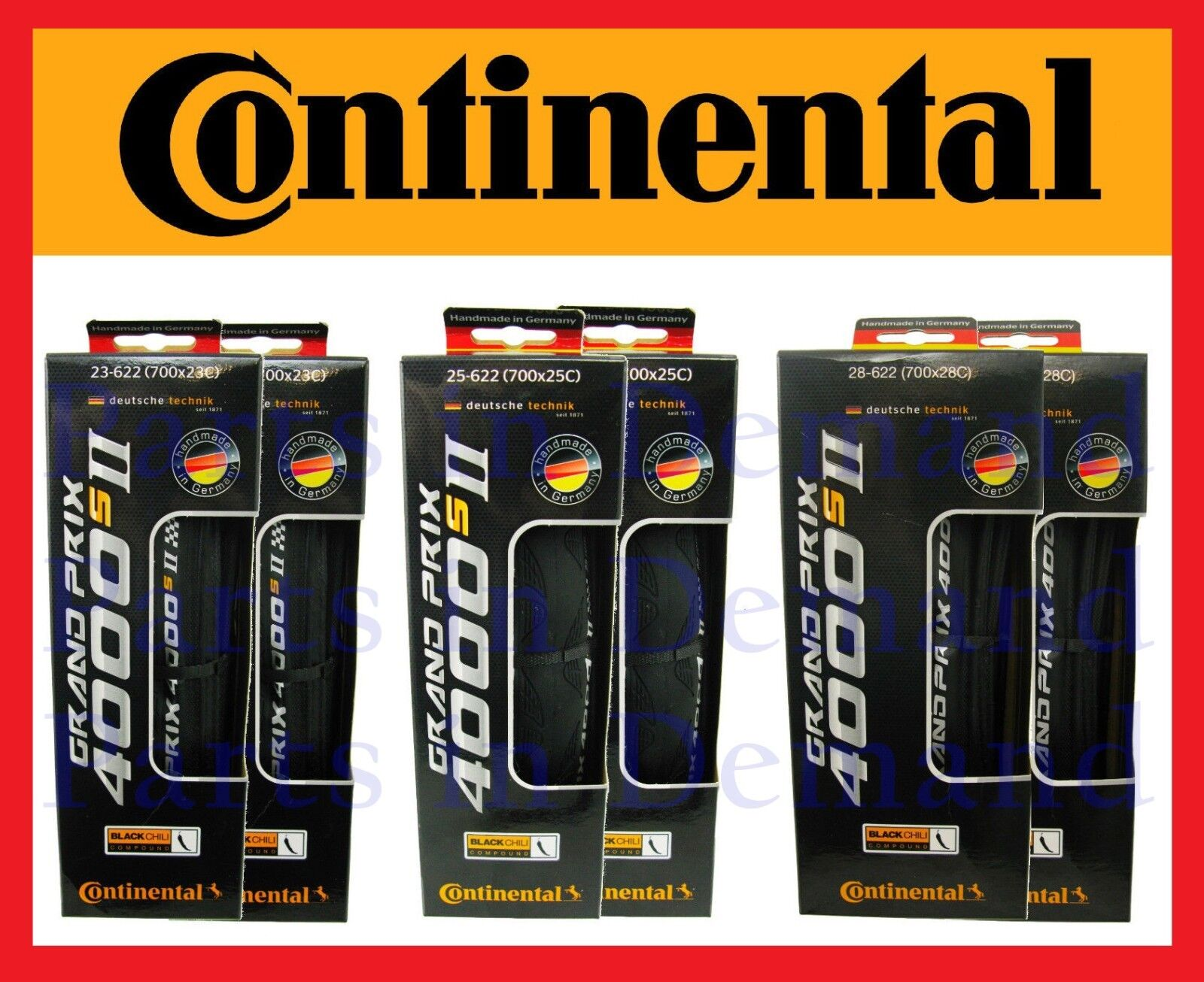 Купить Continental - PAIR Continental Grand Prix GP 4000s II 700c x 23 25 28mm Road Bike Tires GP4000