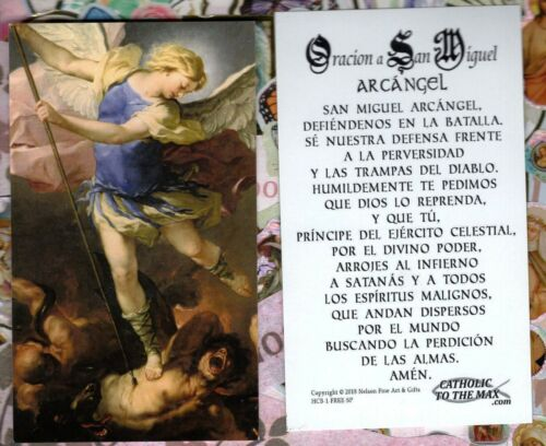 Oracion a San Miguel Arcangel - Spanish - Paperstock Holy Card