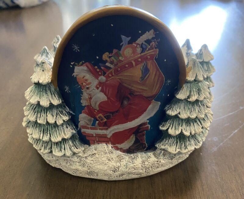 Joseph Holodook Christmas Holiday Tree Santa Chimney Candle Holder