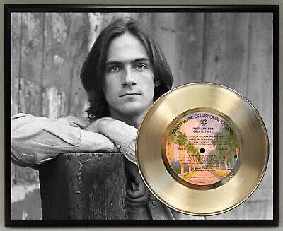 James Taylor Poster Art Metalized Record Music Memorabilia Wall Art -