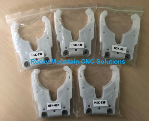 NEW 5-Pack HSK63F Tool Holder Cradle, Fork, Claw, Clip- GET 5 FOR THE PRICE OF 4