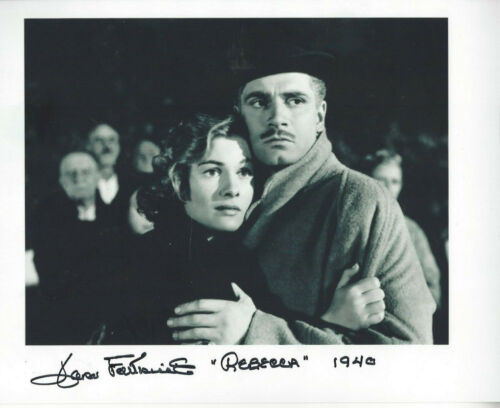 Late  actress Joan Fontaine autographed 8x10 Rebecca   photo
