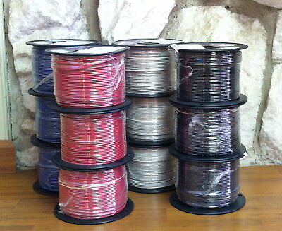 500 FT THHN/THWN WIRE 14 AWG STRANDED 600 VOLT. MADE IN USA.  6 COLOR OPTIONS