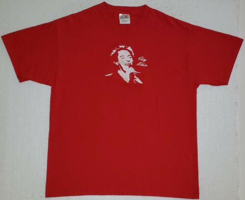 CLAY AIKEN Size Large Red T-Shirt