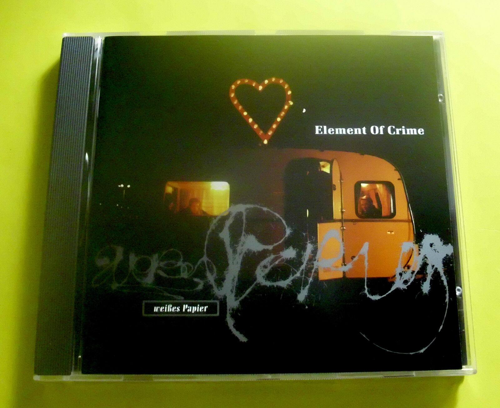 """CD """" ELEMENT OF CRIME - WEIßES PAPIER """" 11 SONGS (MEHR ALS SIE ERLAUBT)"""