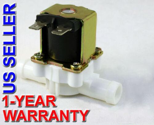 1/2 inch Barbed Hose 12V DC VDC Plastic Nylon Solenoid Valve ONE-YEAR WARRANTY