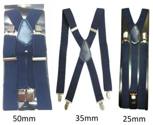 Navy Men Ladies Braces Elastic Durable Strong 25mm 35mm 50mm Wide