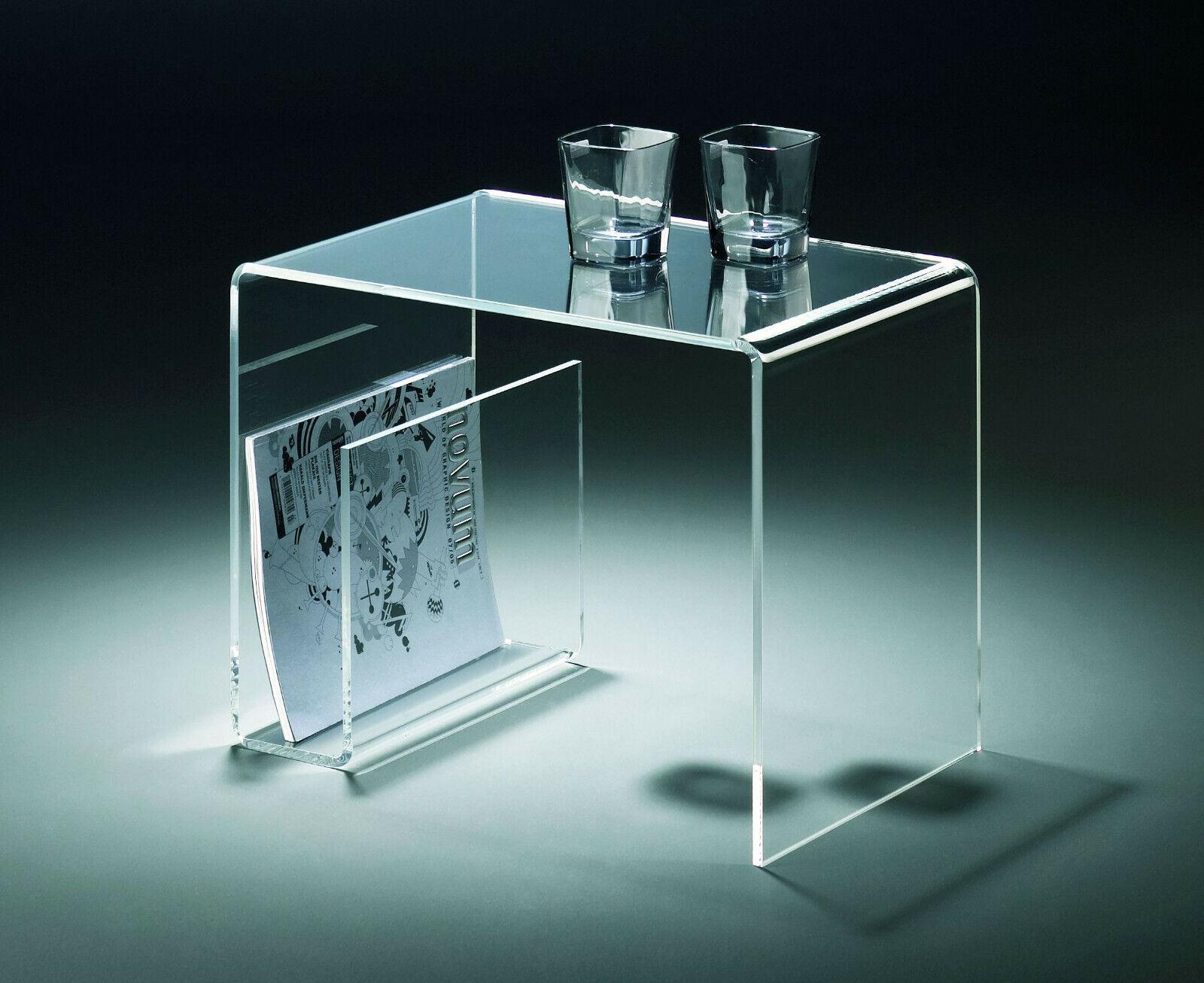 Beistelltisch oder Multifunktionstisch aus Acrylglas klar - transparent