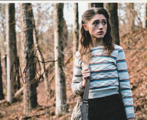 * NATALIA DYER * signed 8x10 photo * STRANGER THINGS * NANCY WHEELER * 1