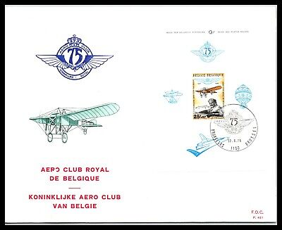 GP GOLDPATH: BELGIUM COVER 1976 AIR MAIL FIRST DAY COVER _CV674_P14