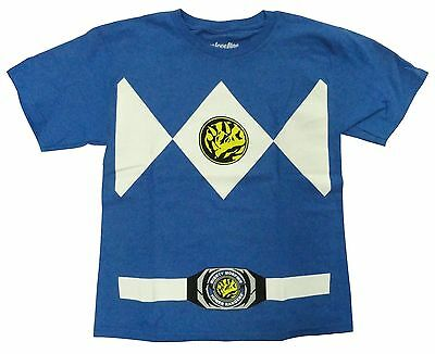 Authentic Power Rangers Blue Ranger Costume Adult T-shirt Tee NEW (Adults Power Rangers Costume)