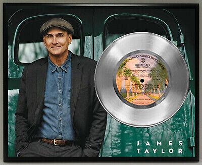 James Taylor 45 Record Poster Art Music Memorabilia Display Plaque Wall -