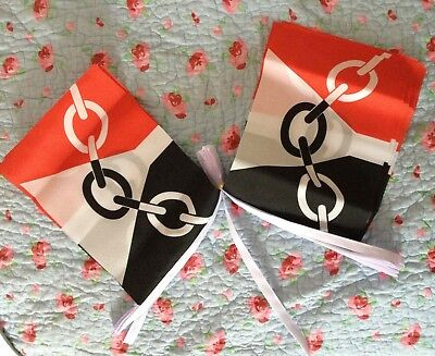 Black Country 9m Bunting Indoor Outdoor Cloth Football Sports Event Midlands