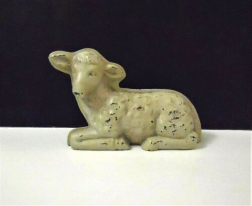 Antique Reproduction Lamb/ Sheep Sitting Figurine Farmhouse  NEW