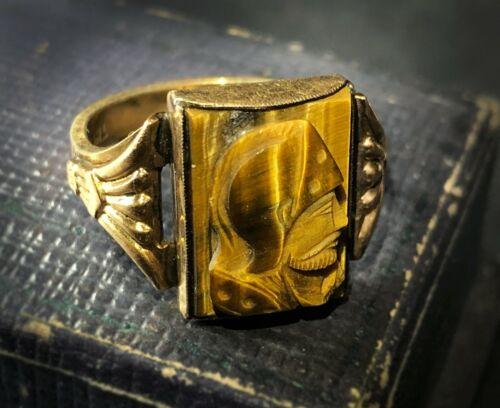 Estate ART DECO Men's Ring TIGER