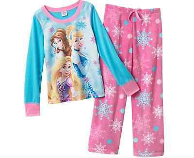 Disney Princess 2 Pc Pajama Set NWT PJs Nightsuit 6 Sleepwear Top Plush Pants - Disney Princess Sleepwear