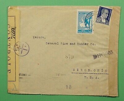 DR WHO 1944 TURKEY TO USA WWII CENSOR C241590