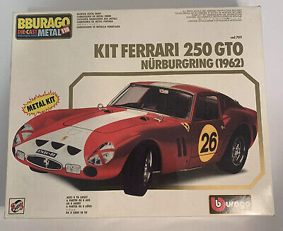 Ferrari Kit 250 GTO Burago Die Cast Metal Kit 1/18 Scale