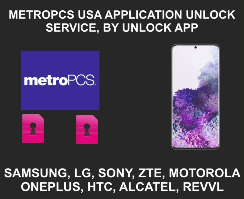 Metropcs Application Unlock Service, Samsung, Sony, ZTE, Motorola, OnePlus