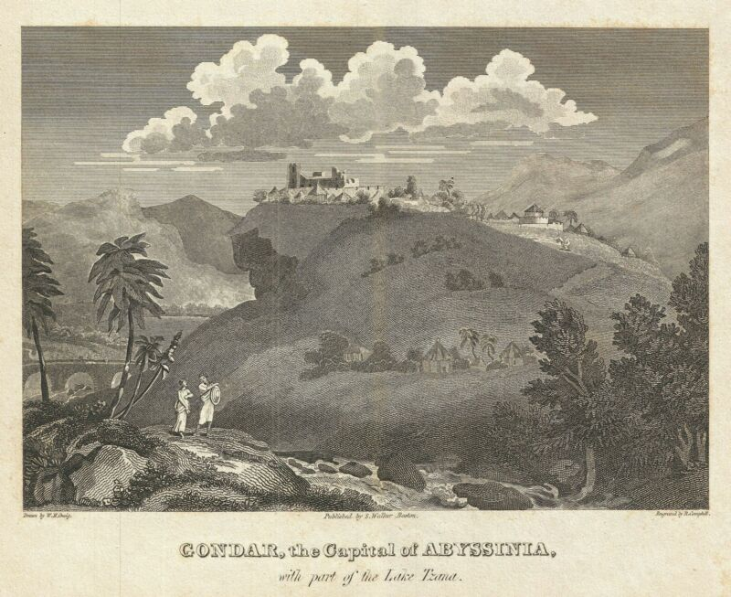 1828 Craig View of Gondar, Ethiopia