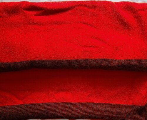"Vintage Wool Blankets Red & Black, lot of 2 - 61"" X 73"" & 63"" X 76"""