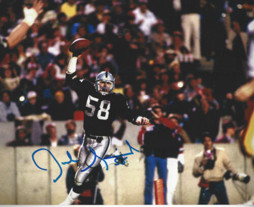 Oakland Raiders Jack Squirek autographed color TD Celebration  8x10  photo