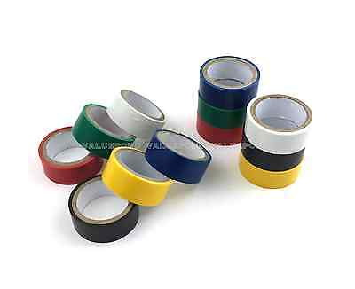 12 Rolls Of Color Electrical Tape Assorted Colors 34 In X 6.6ft Pvc Insulation