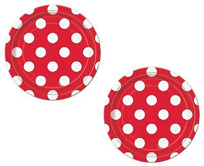 Paper Plates Red Polka Dot Dessert Plate (16 ct)