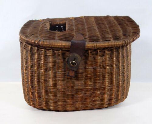 Vintage Fly Fishing Basket Wicker Vintage Creel Tackle Basket