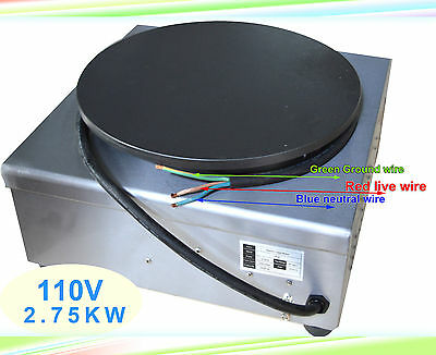 Commercial Electric Crepe Maker Machine Pancake Kitchen Maker 110V
