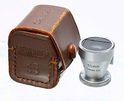 CANON RANGEFINDER 35MM SHOE MOUNT VIEW FINDER W/ LEATHER CASE