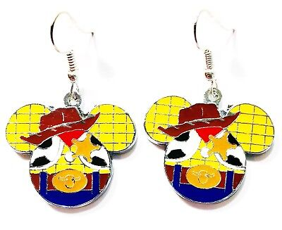 Disney Mickey Head Toy Story Woody Character Drop Dangle Earrings - Ships Fast