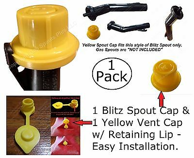 Combo Pack 1 Blitz Yellow Spout Cap 1 Air Breather Vent Cap Fix Your Gas Can