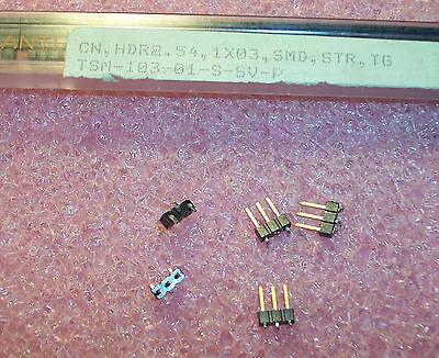 Qty 57 Tsm-103-01-s-sv-p Samtec 3 Position Smd Header Vertical 2.54mm