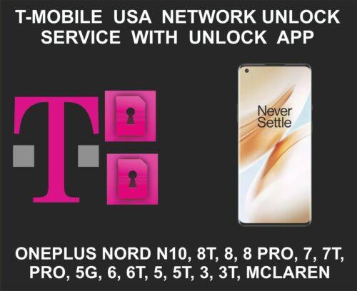 T-Mobile USA Network Unlock Service, Oneplus 9, 8, 8 Pro, 7, 7T, Pro, 5G, 6, 6T