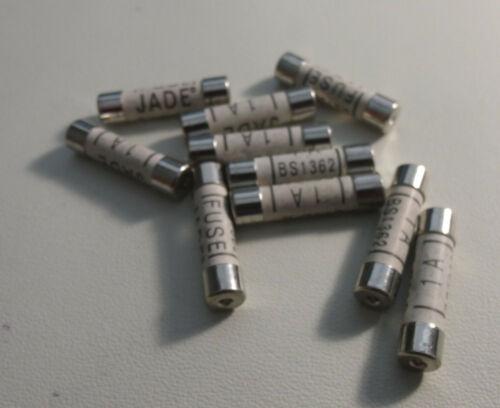 """FUSE : BS1362 : 1A : Ceramic, 6x25mm, 8AG, 1/4"""" x 1"""" : 10pcs per lot"""