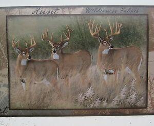 DEER BUCK DOE HUNTING GREAT OUTDOORS WILDLIFE Wallpaper Border 9