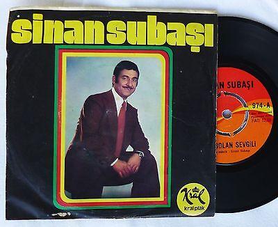 """7""""  SINAN SUBASI - Kaybolan Sevgili / Istedigin Oldumu  turkish 45 Single"""