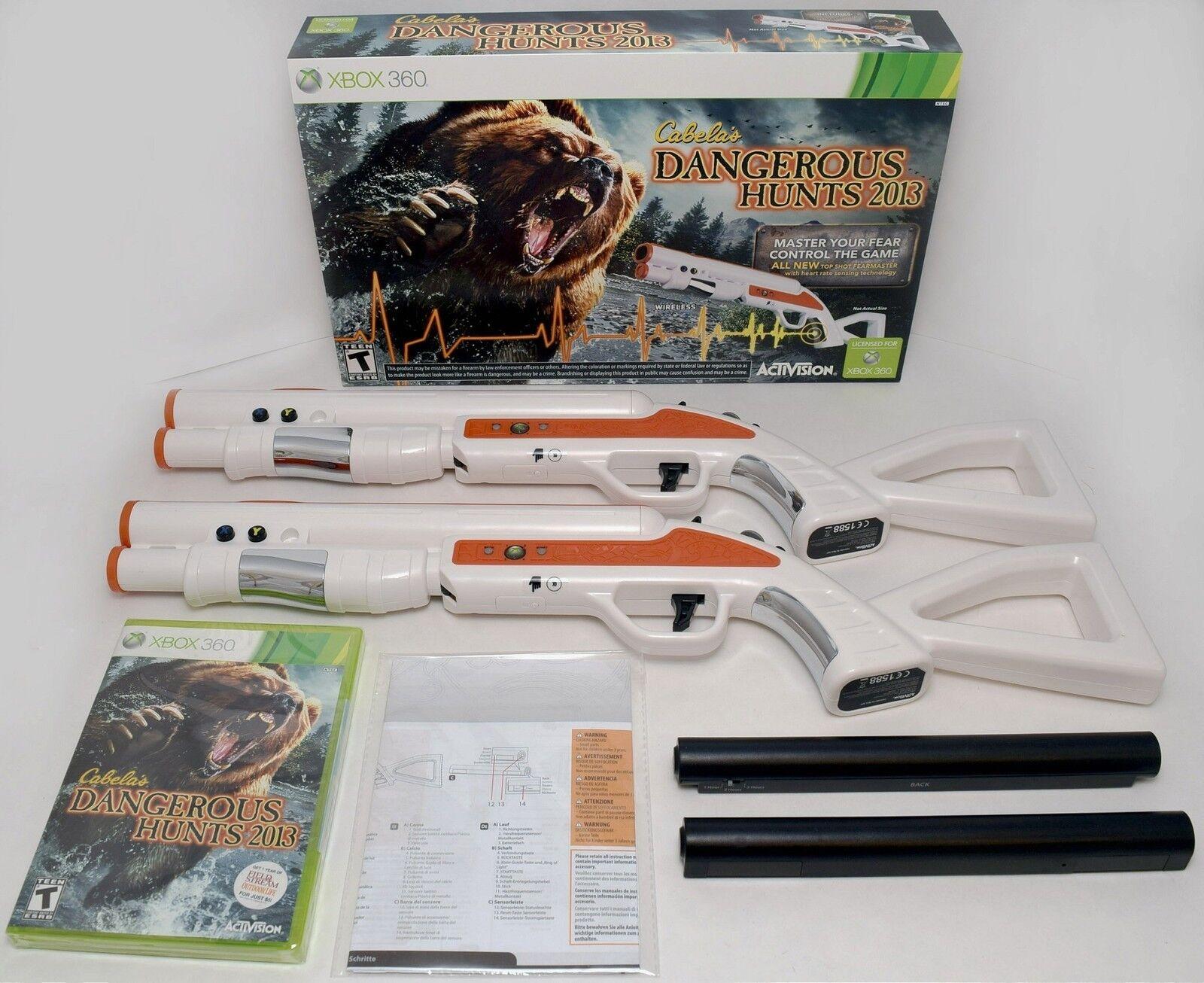 NEW 2-GUN BUNDLE XBox 360 Cabela's Dangerous Hunts 2013 Hunting Game top shot