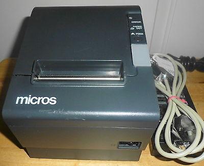 Micros Epson Tm-t88iv Model M129h Pos Thermal Receipt Printer - Idn Port