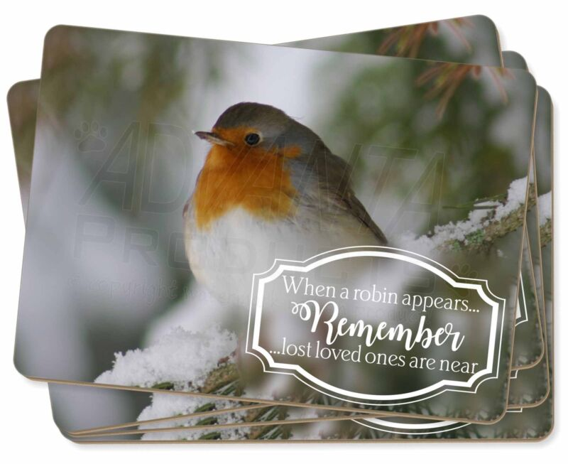 Little+Robin+Red+Breast+Picture+Placemats+in+Gift+Box%2C+Robin-1P