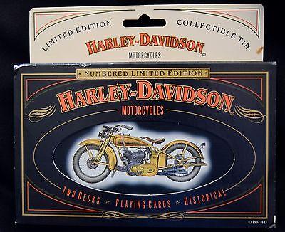 HARLEY-DAVIDSON COLLECTIBLE TIN & PLAYING CARDS