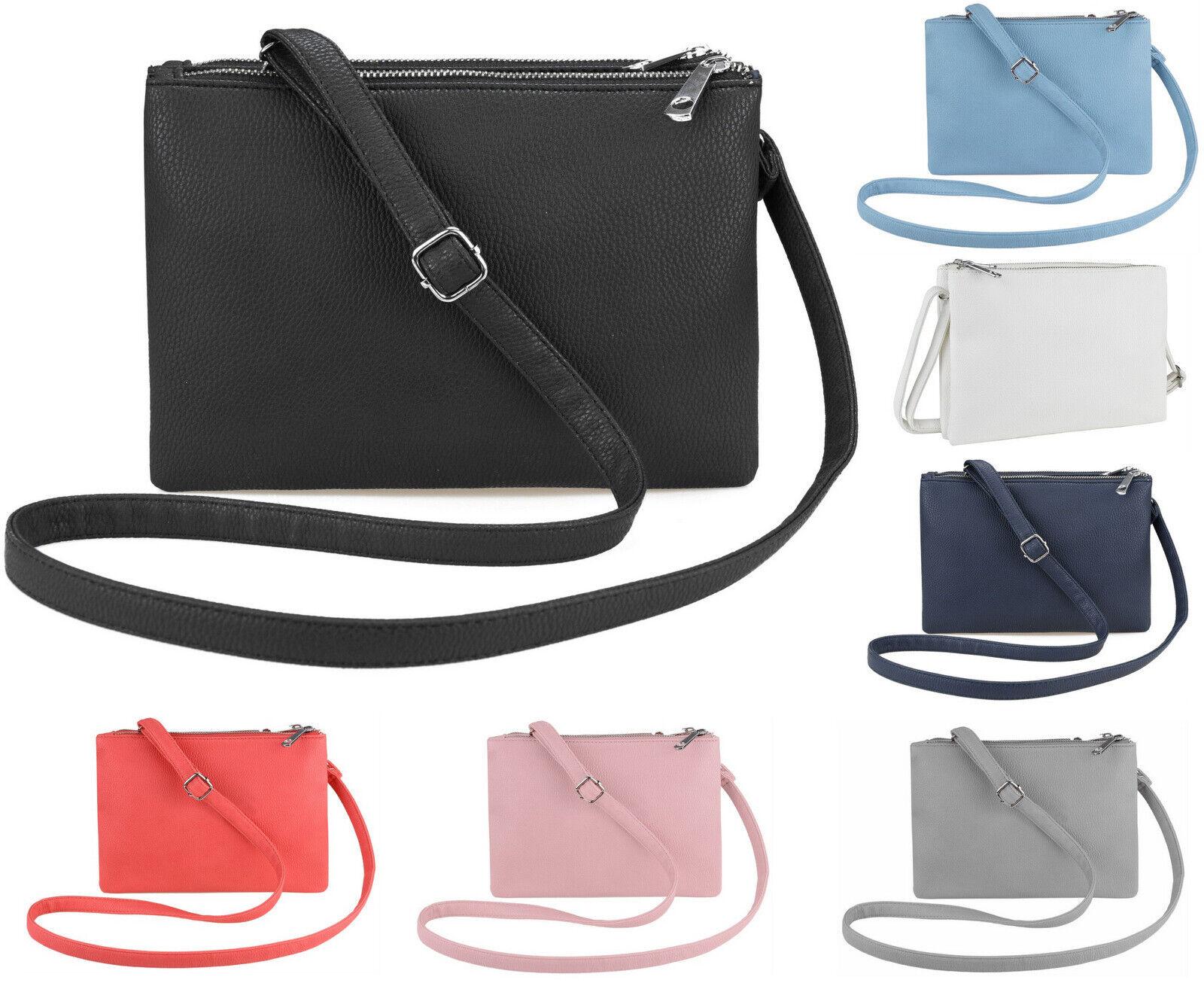 Damen Handtasche Damentasche Schultertasche Umhängetasche Crossover Clutch FB245