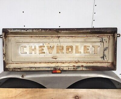 Vintage 1950s Chevrolet Tailgate Rat rod Wall Art Bench Man Cave Pickup Truck T
