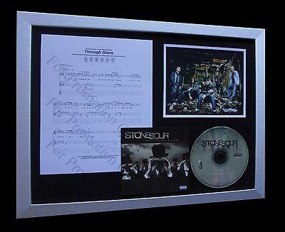 STONE SOUR Through Glass LTD MUSIC QUALITY CD FRAMED DISPLAY+EXPRESS GLOBAL SHIP ()